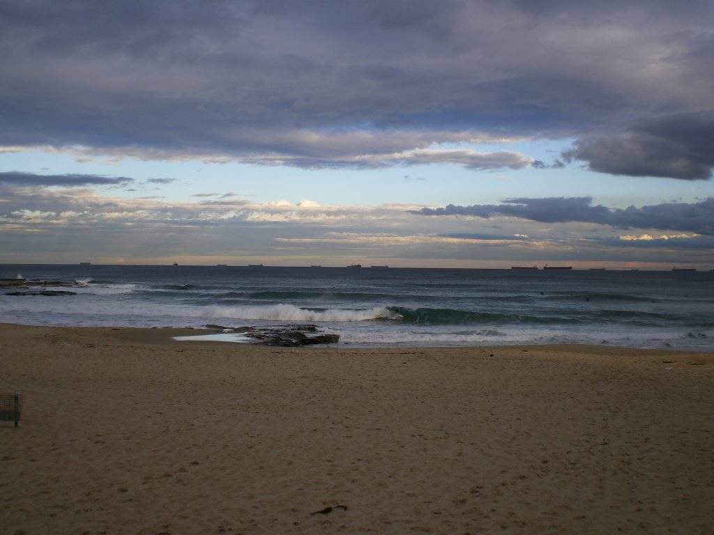 studying abroad newcastle beach calm