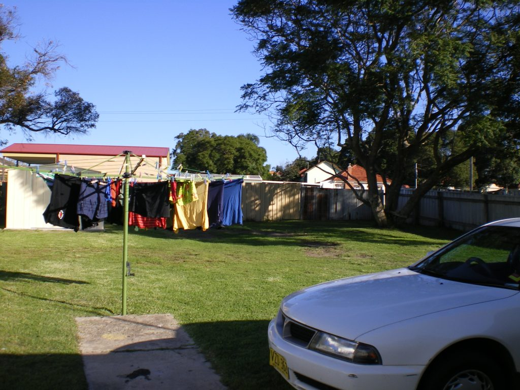studying abroad line drying