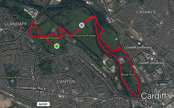 running in Cardiff