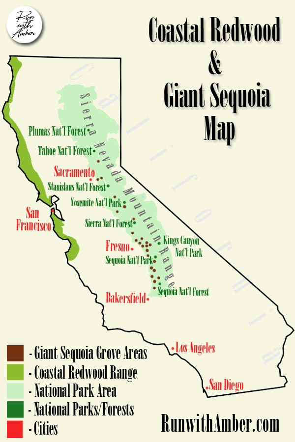 California Giant Sequoias Map