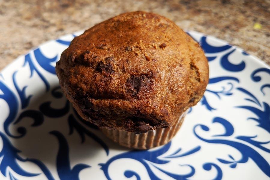 senza gluten Choc banana coffee muffin