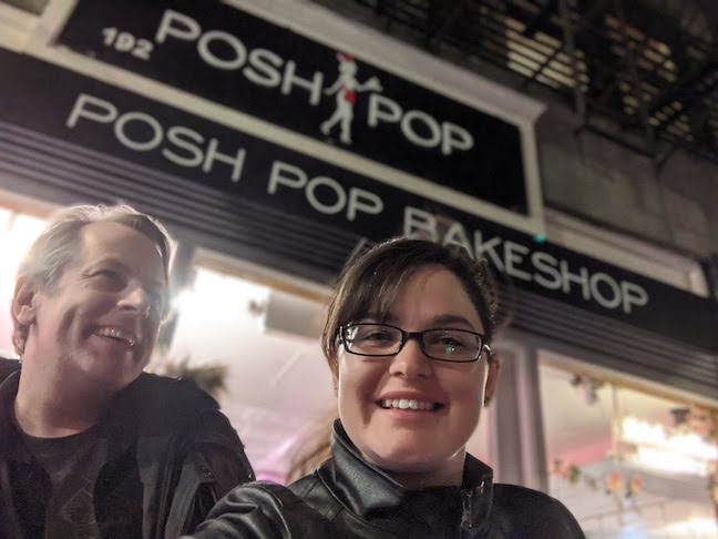 Outside of Posh Pop Bakeshop