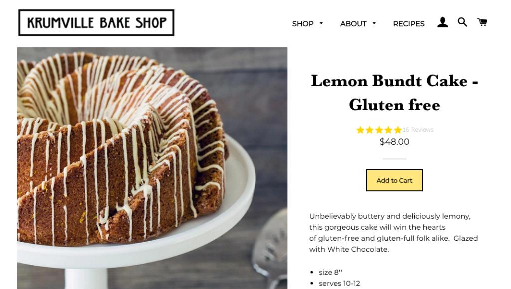 krumville Bundt cake