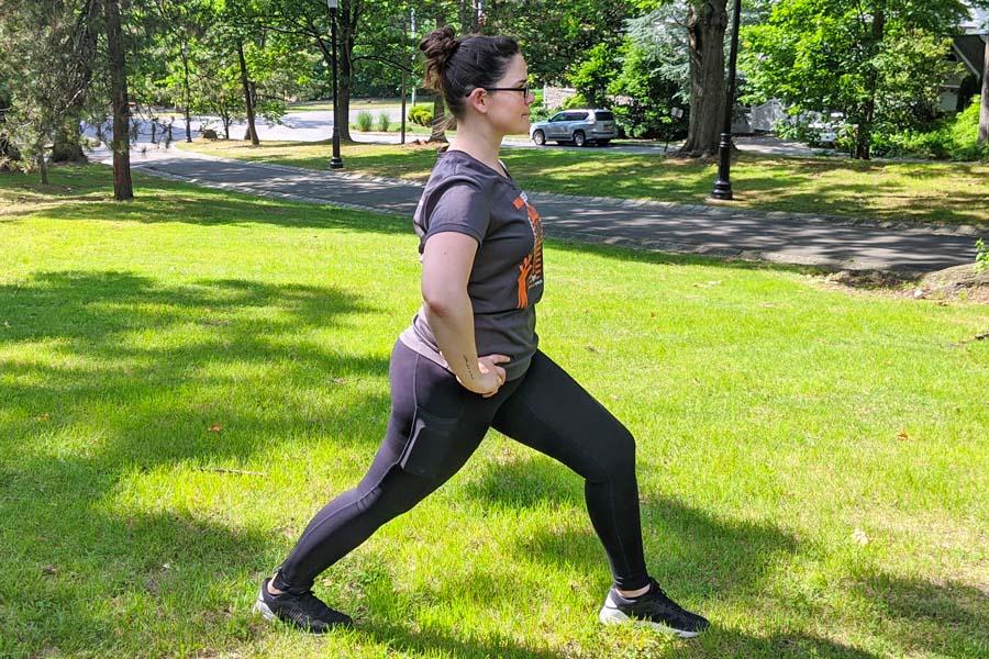 calve stretch run with amber
