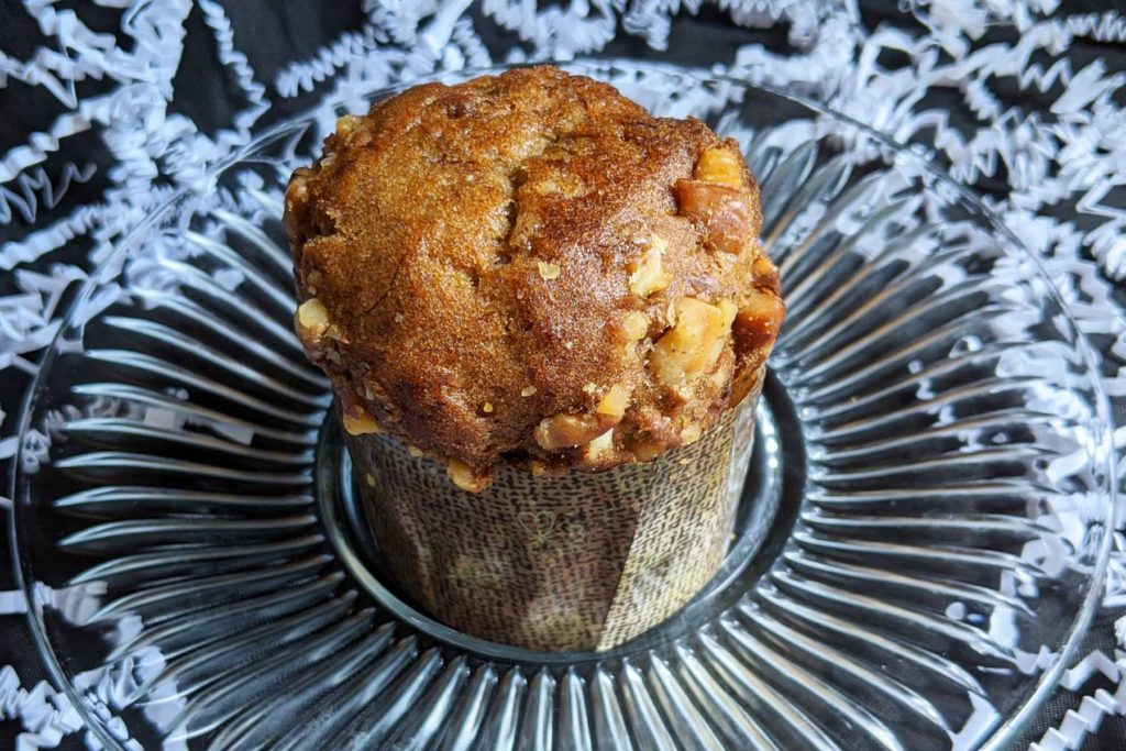 banana walnut muffin krumville bake shop