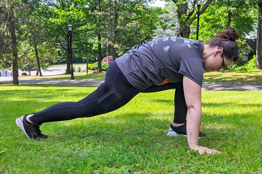 hip flexor stretch run with amber